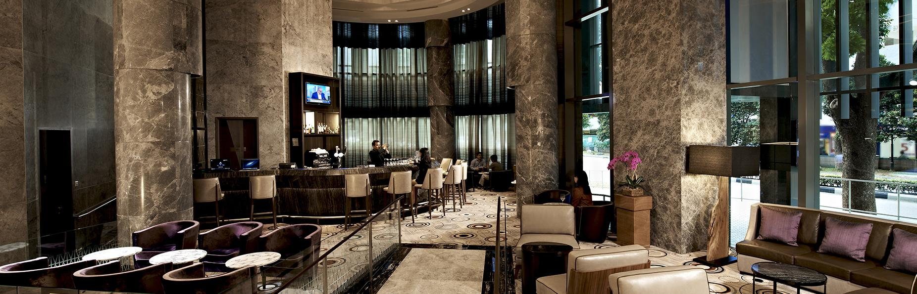 hotel lounge and bar